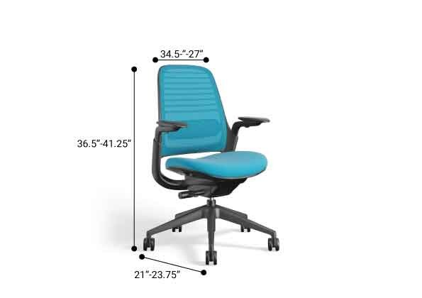Steelcase Series 1 Chair, Black Frame Pool Blue