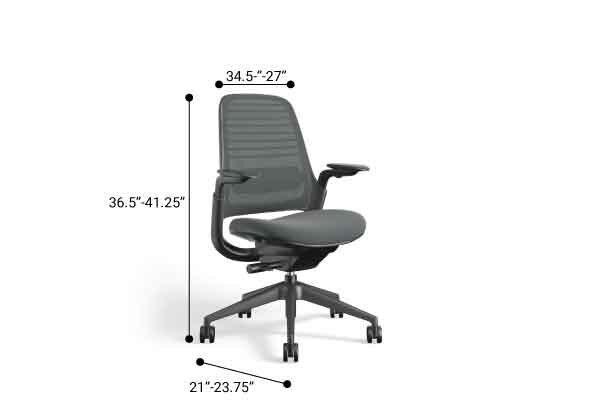 Steelcase Series 1 Chair, Black Frame Gray