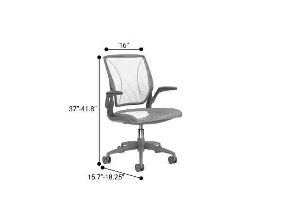 Pinstripe Mesh World Task Chair, Fixed Arms, Gray Frame White