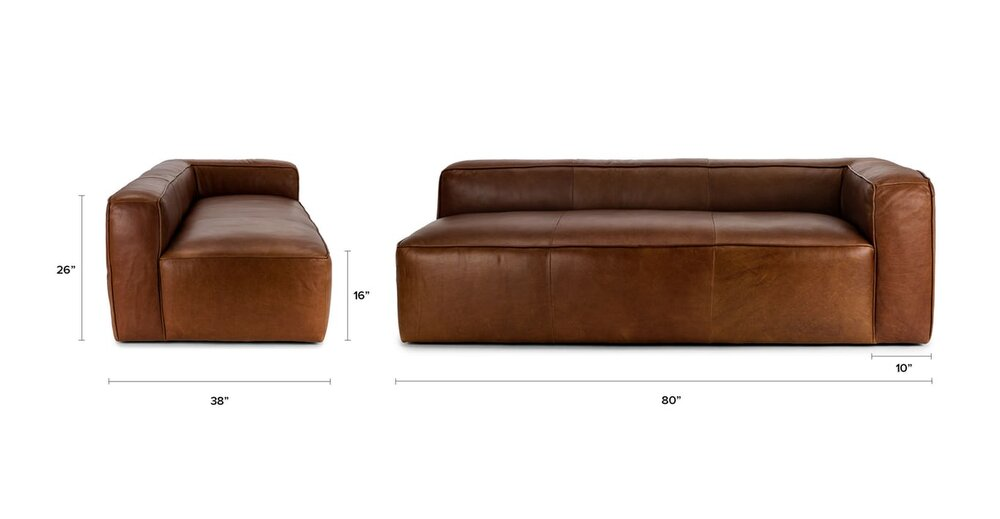 Mello Right Arm Sofa Taos Brown