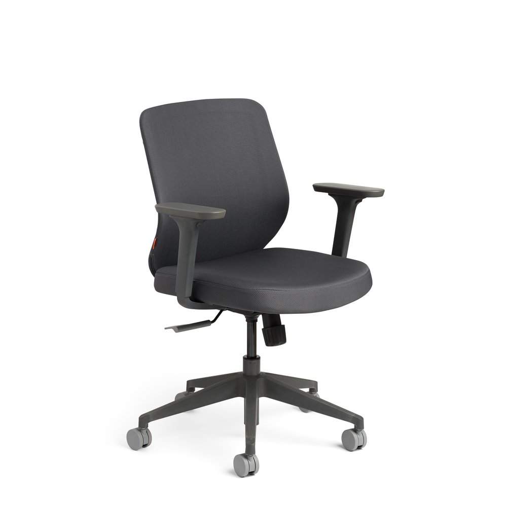 Max Task Chair, Mid Back, Charcoal Frame Dark Gray
