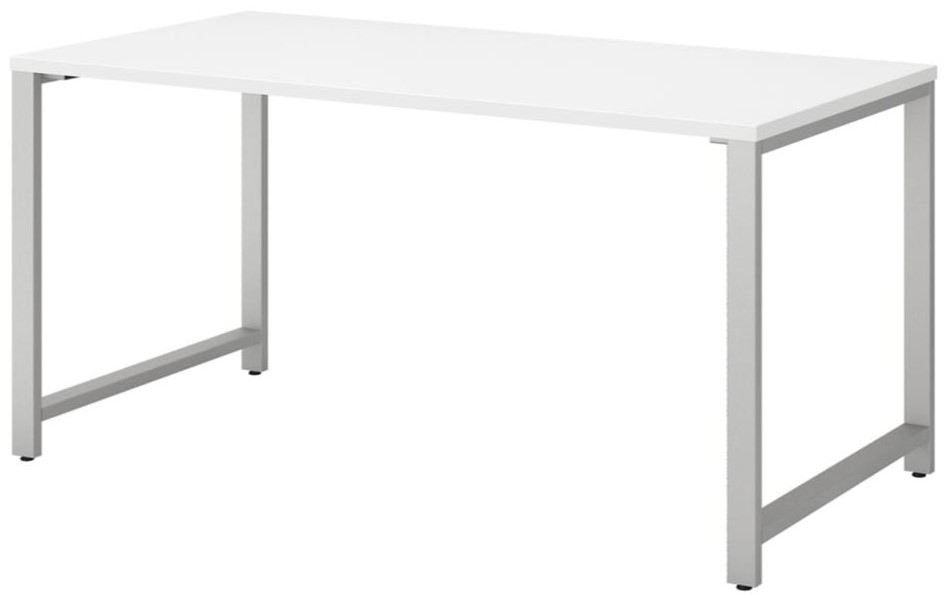 """Series 60"""" Table Desk With Metal Legs White"""