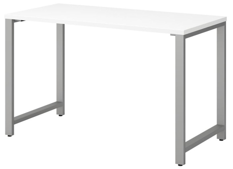 """Series 48"""" Table Desk With Metal Legs White"""