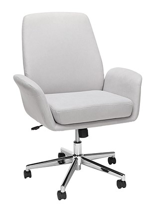 Modern Fabric Upholstered Office Chair Gray