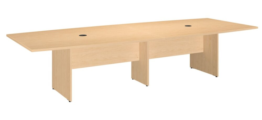 """Conference Table 120""""x48"""" Boat Shaped Natural Maple"""