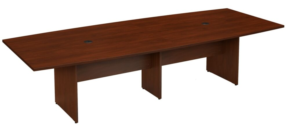"""Conference Table 120""""x48"""" Boat Shaped Hansen Cherry"""