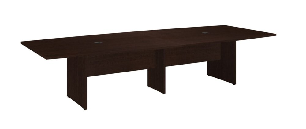 """Conference Table 120""""x48"""" Boat Shaped Mocha Cherry"""