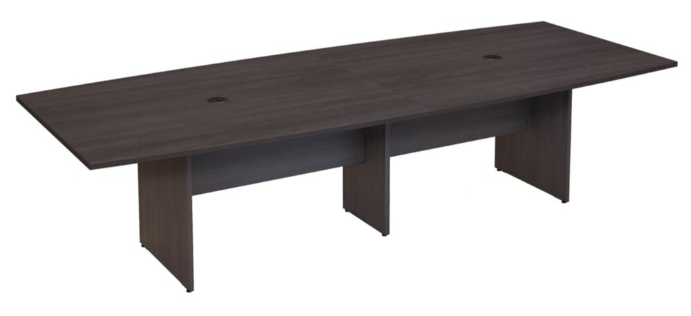 """Conference Table 120""""x48"""" Boat Shaped Storm Gray"""