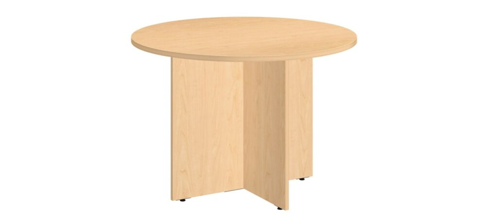 """Conference Table 42"""" Round Natural Maple"""