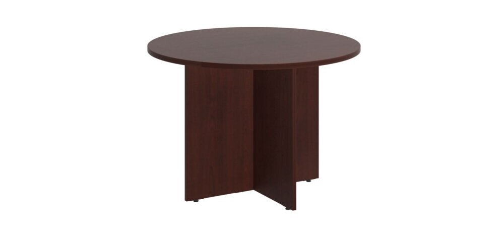 """Conference Table 42"""" Round Harvest Cherry"""