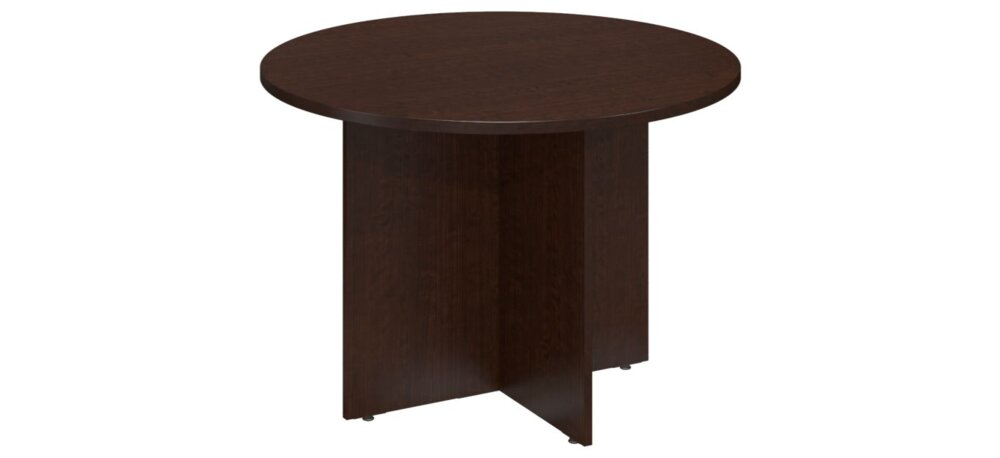 """Conference Table 42"""" Round Mocha Cherry"""