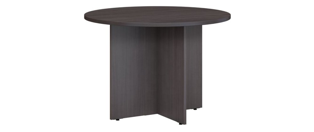 """Conference Table 42"""" Round Storm Gray"""