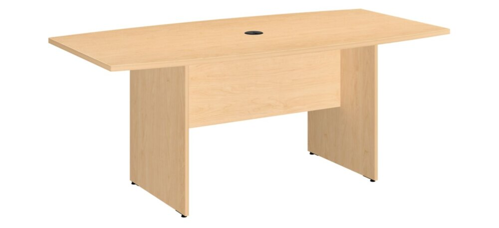 """Conference Table 72""""x36"""" Boat Shaped Natural Maple"""