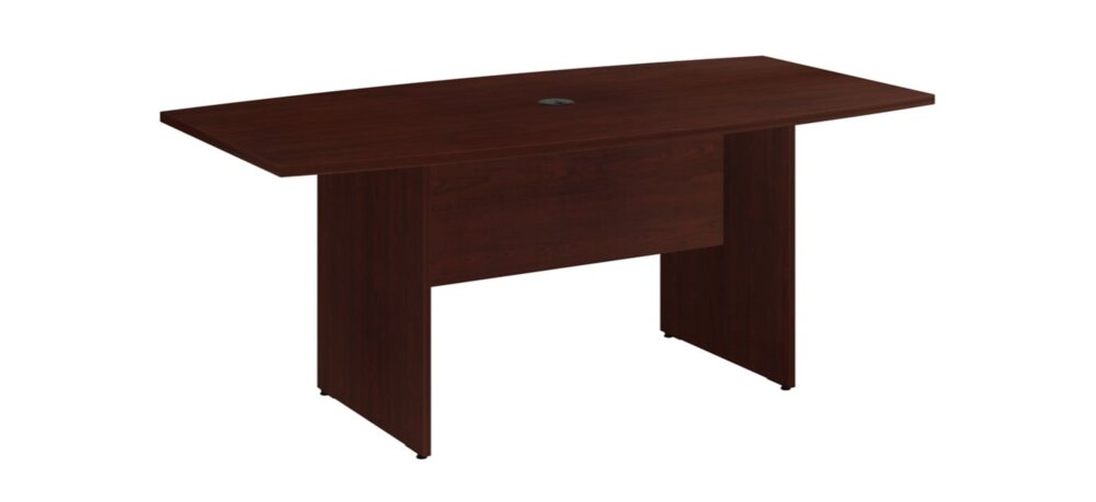 """Conference Table 72""""x36"""" Boat Shaped Harvest Cherry"""