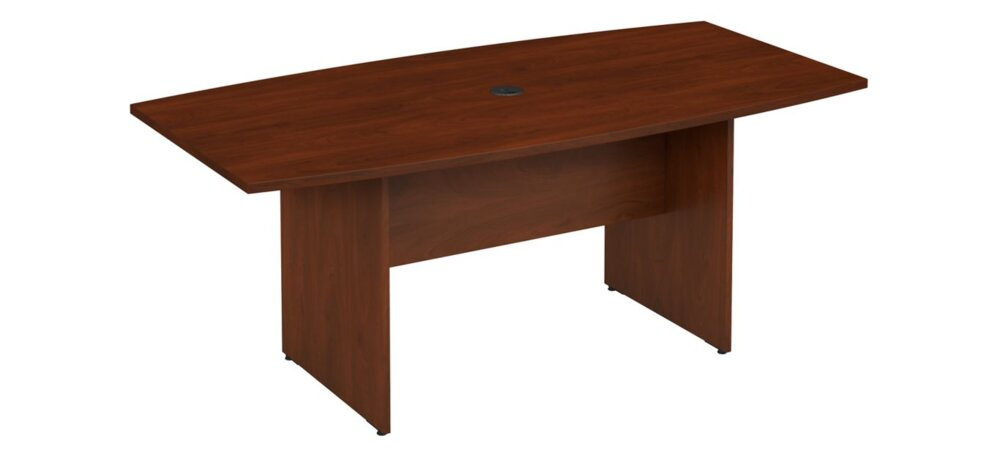 """Conference Table 72""""x36"""" Boat Shaped Hansen Cherry"""