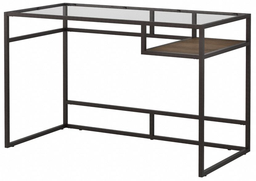 Anthropology 48W Writing Desk With Shelf Rustic Brown