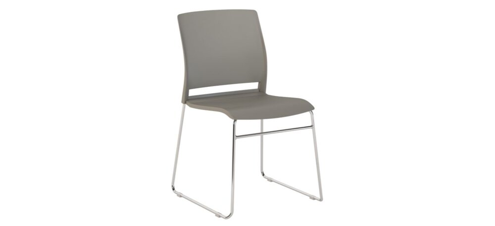 Stackable Chairs Gray (Set of 2)
