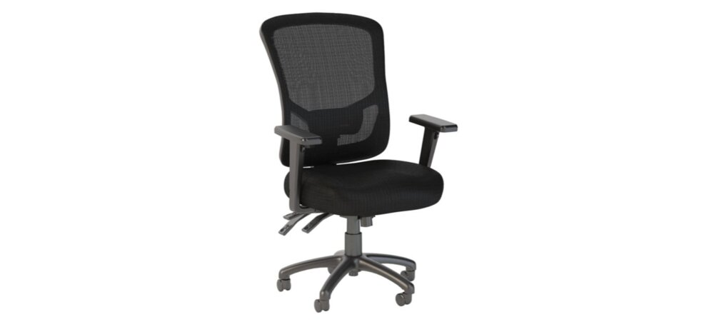 Executive Office Chair With High Back Black Nylon Mesh