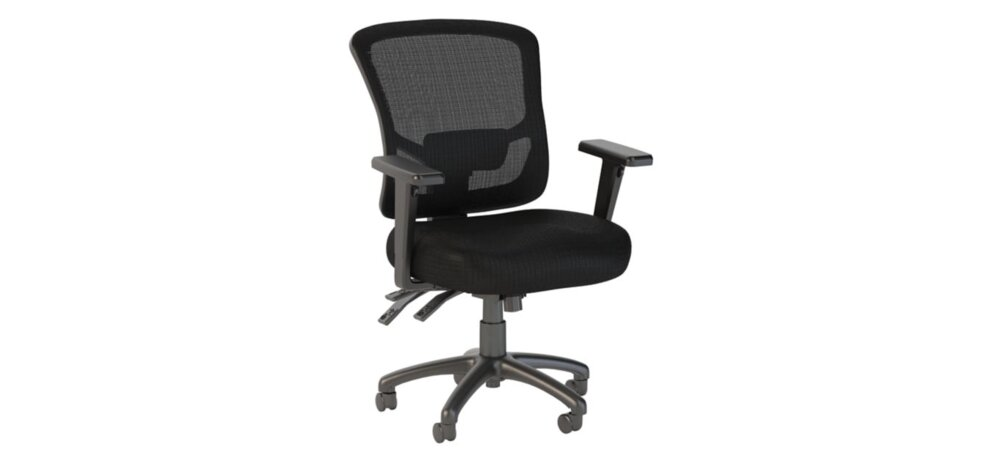 Executive Office Chair With Mid Back Black Nylon Mesh