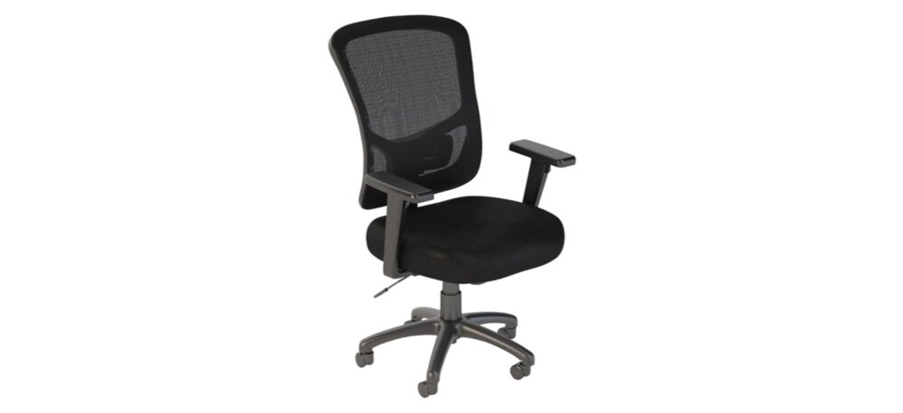 Executive Office Chair High Back Black Nylon Mesh