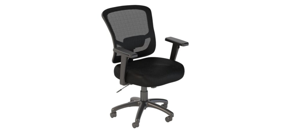 Executive Office Chair Mid Back Black Nylon Mesh