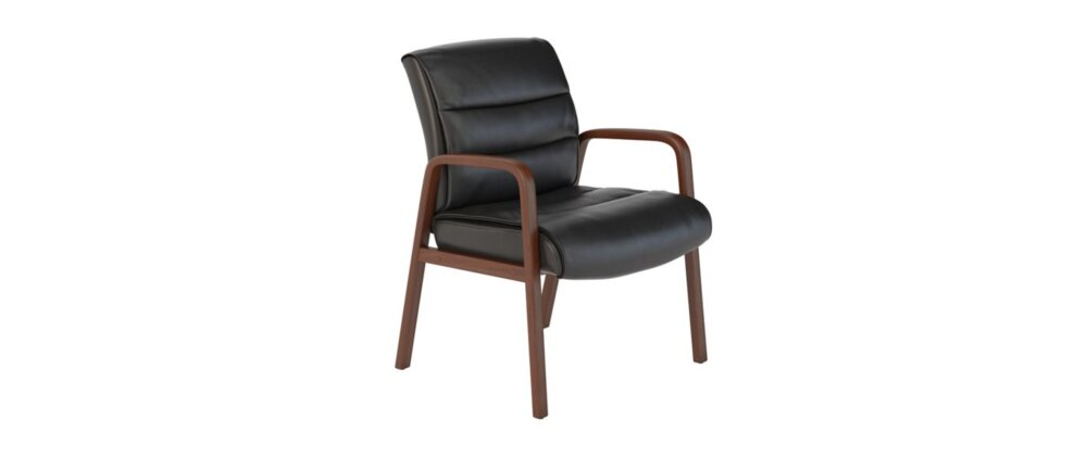 Guest Chair Black Leather