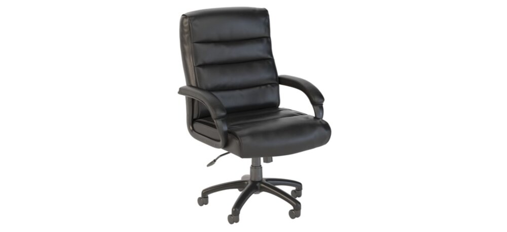 Executive Office Chair Mid Back Leather Chair Black