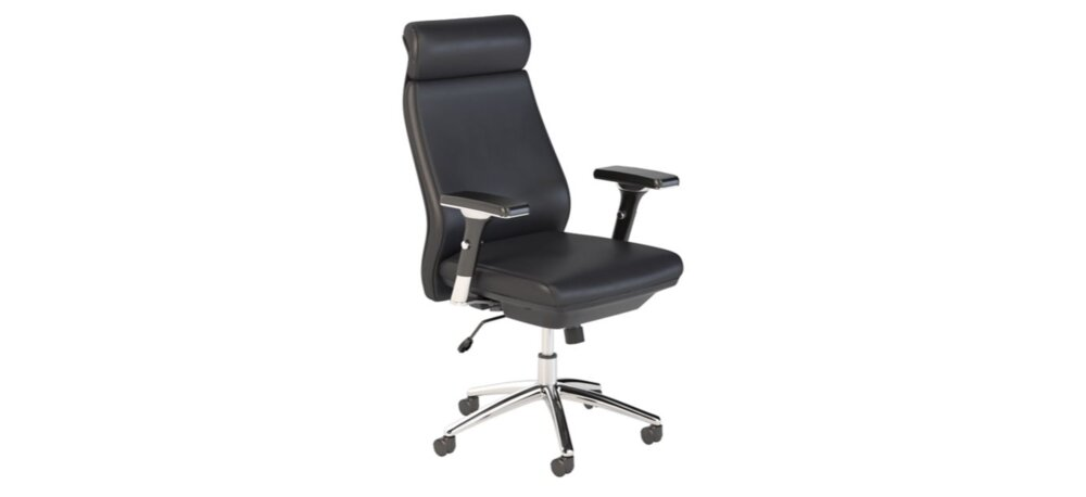 Executive Office High Back Leather Chair Black