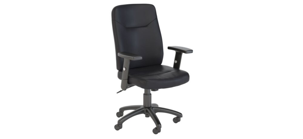 Executive Office Chair High Back Leather Black