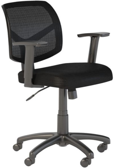 Seating Petite Back Office Chair Black