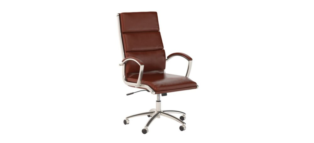 Executive Office Chair High Back Harvest Cherry Leather
