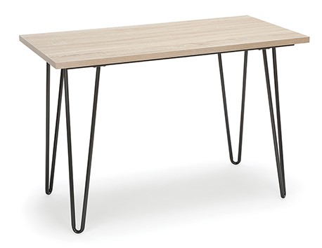 Retro Writing Desk With Hairpin Legs Natural And Gray