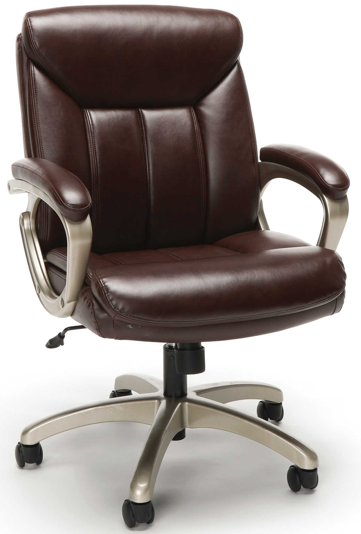 Essentials Executive Office Chair Brown And Champagne