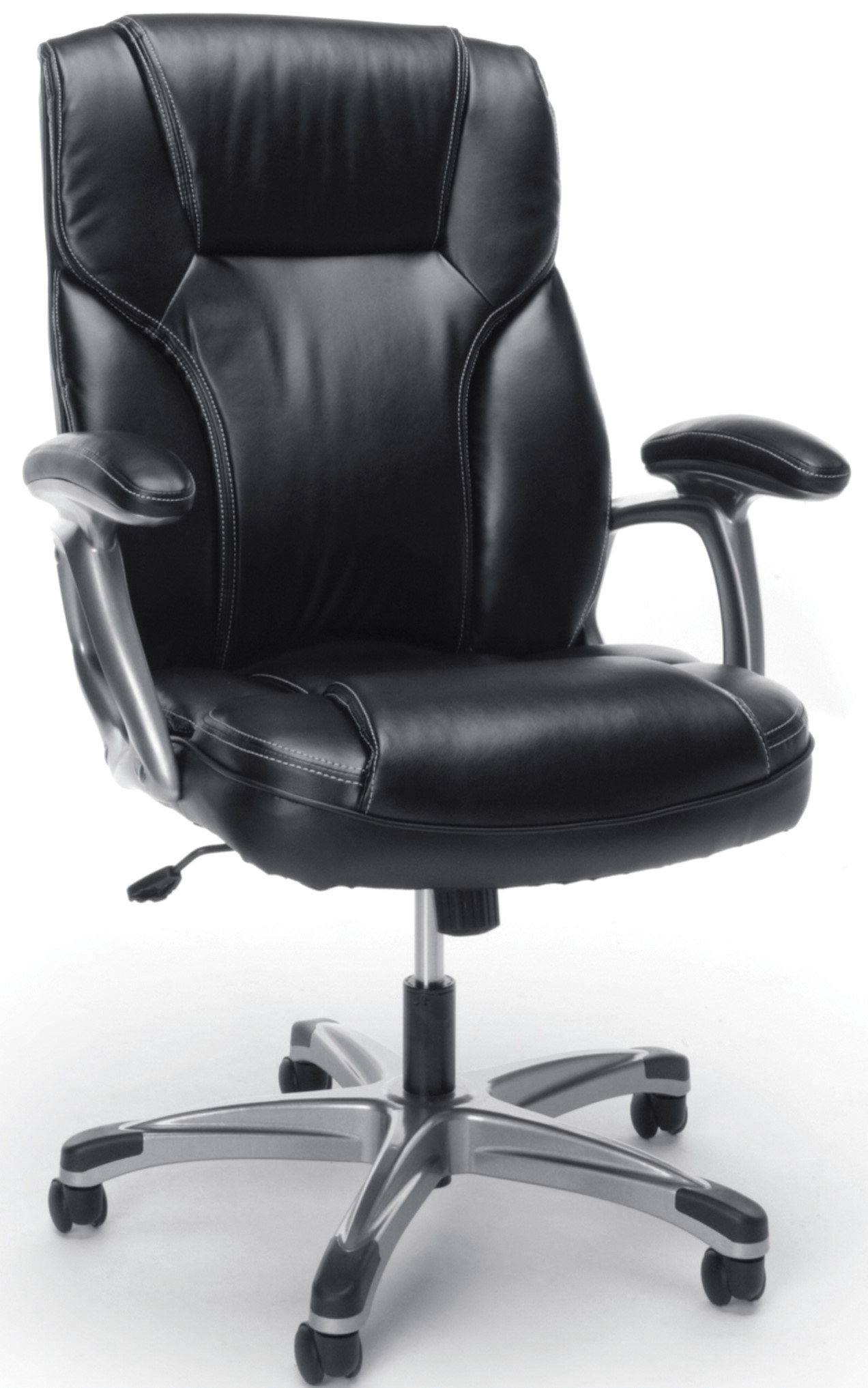 Essentials High-Back Executive Chair with Fixed Arms Black