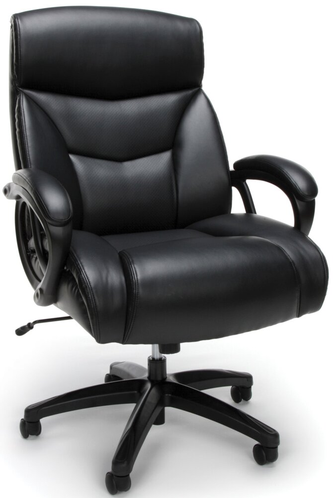 Essentials Big And Tall Executive Chair Black