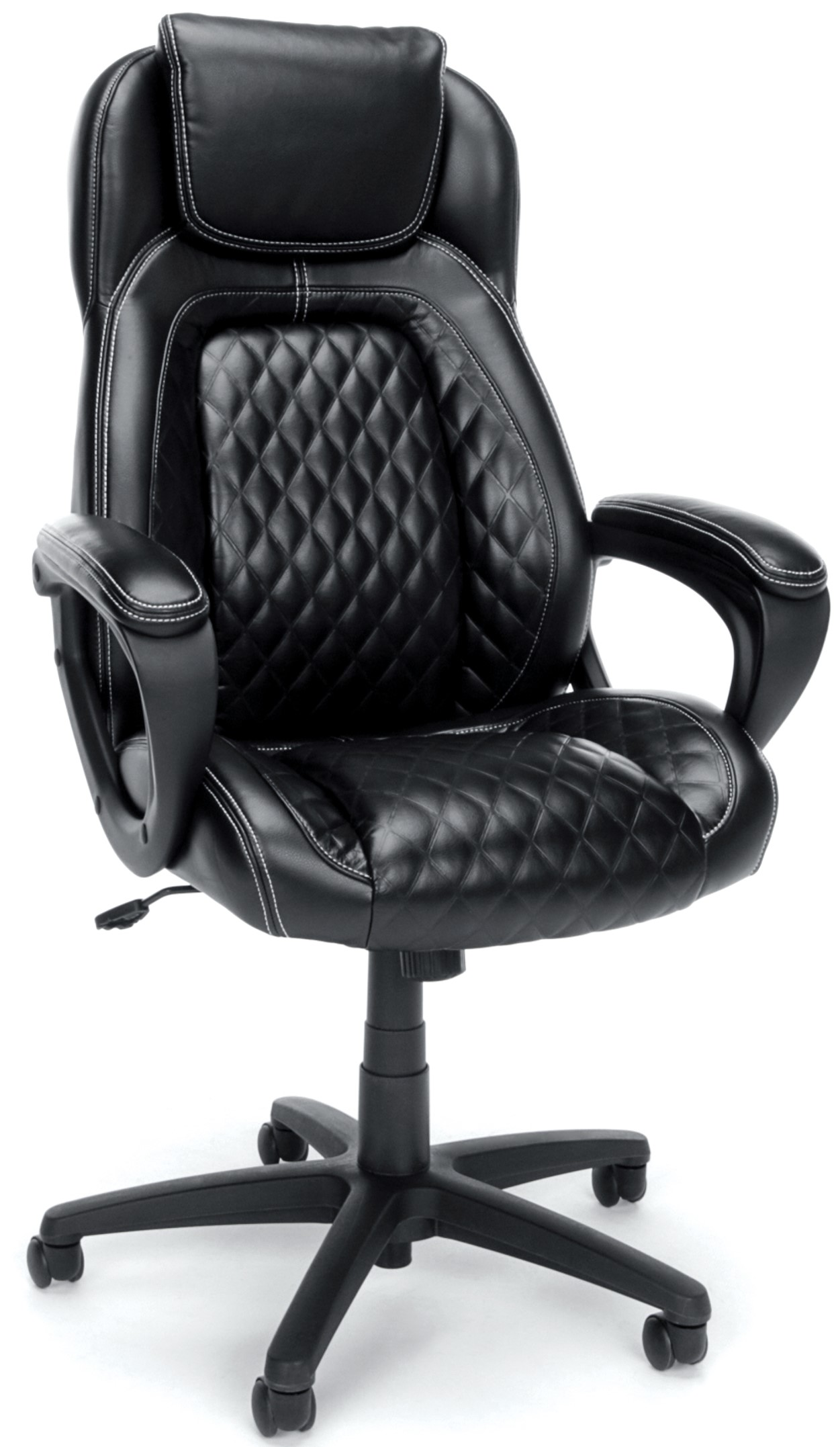 Essentials Racing Style SofThread High Back Office Chair Black