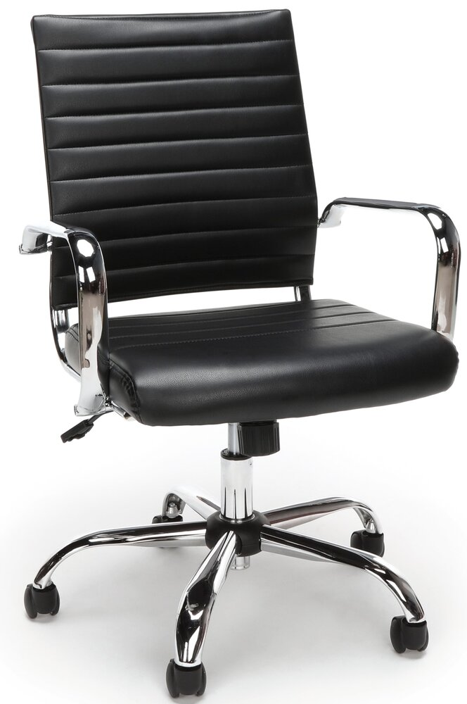 Essentials Soft Ribbed Executive Conference Chair Black