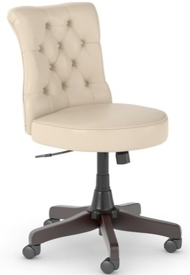 Fairview Mid Back Tufted Office Chair Antique White
