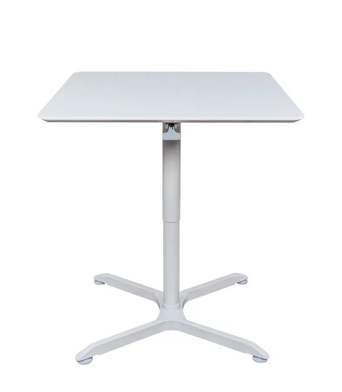 Adjustable Height Cafe Table Square White
