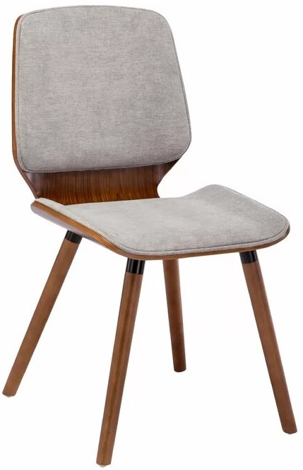 Javion Wood Upholstered Dining Chair Gray