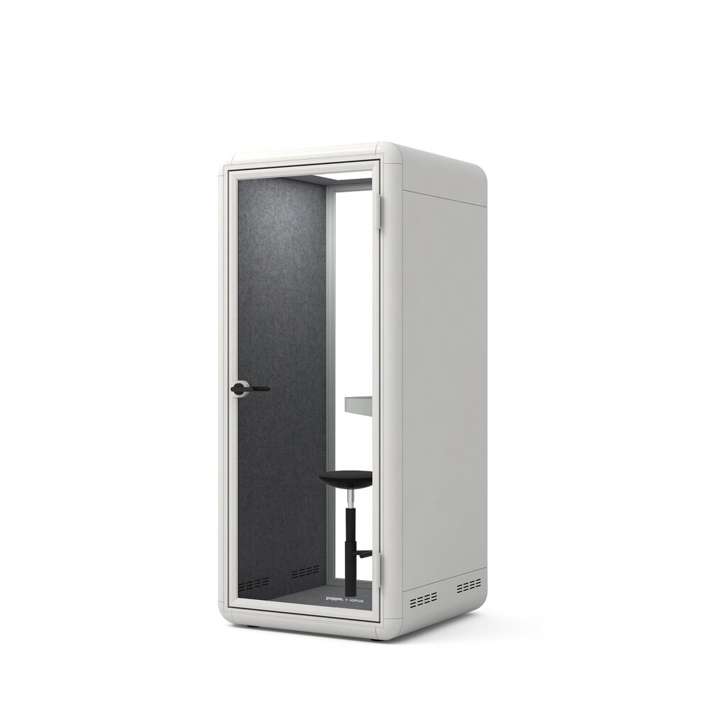 Bise Personal Pod with Stool White