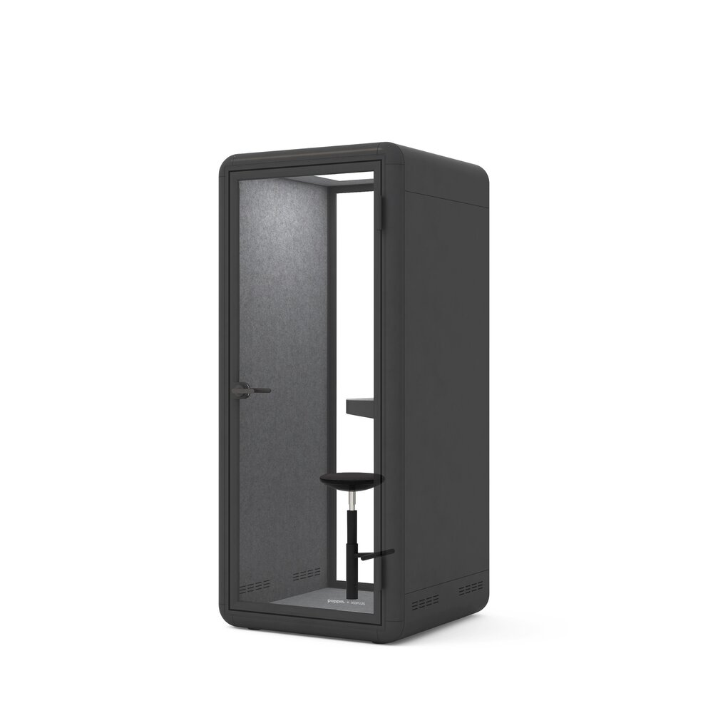 Bise Personal Pod with Stool Black