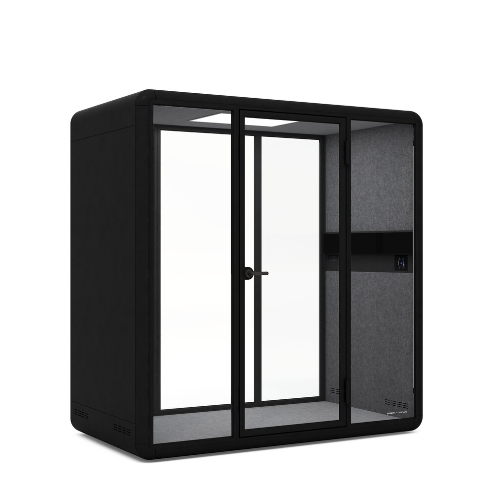 Fohn Meeting Booth for 2, Black
