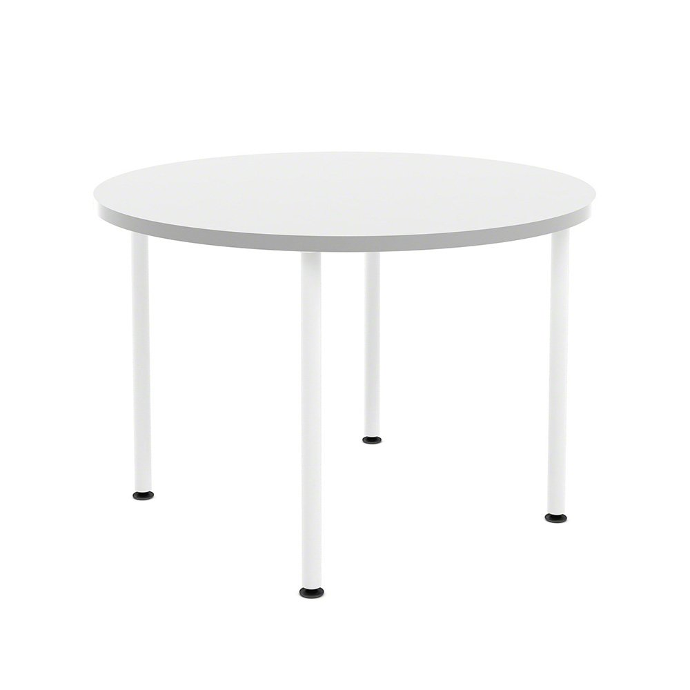 """Simple Round Table, 42"""" White"""