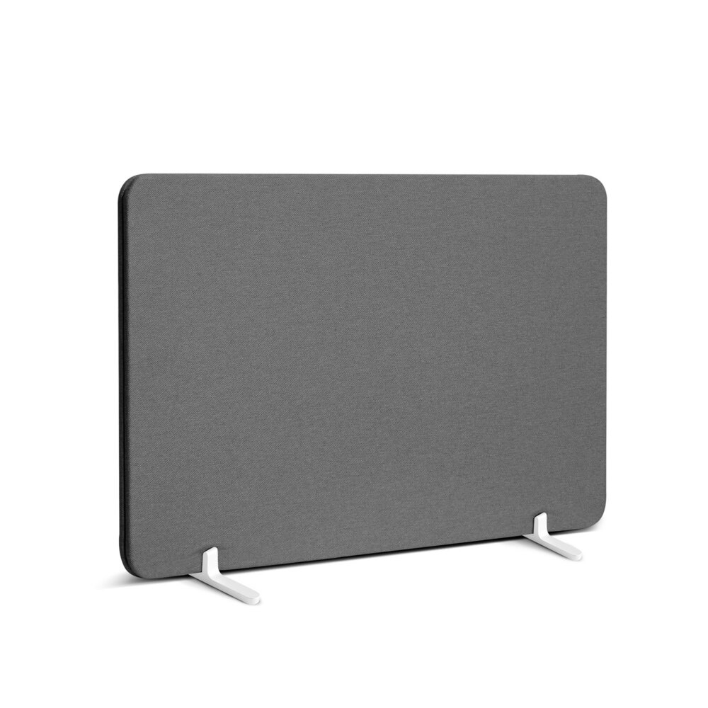 """Fabric Privacy Panel Footed, 27"""" Gray"""