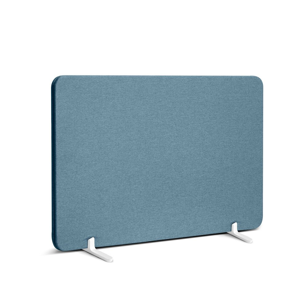 """Fabric Privacy Panel, Footed, 27"""" Slate Blue"""