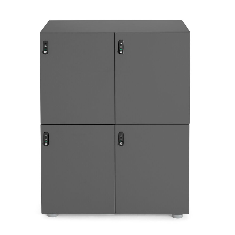 Stash 4-Door Locker Charcoal