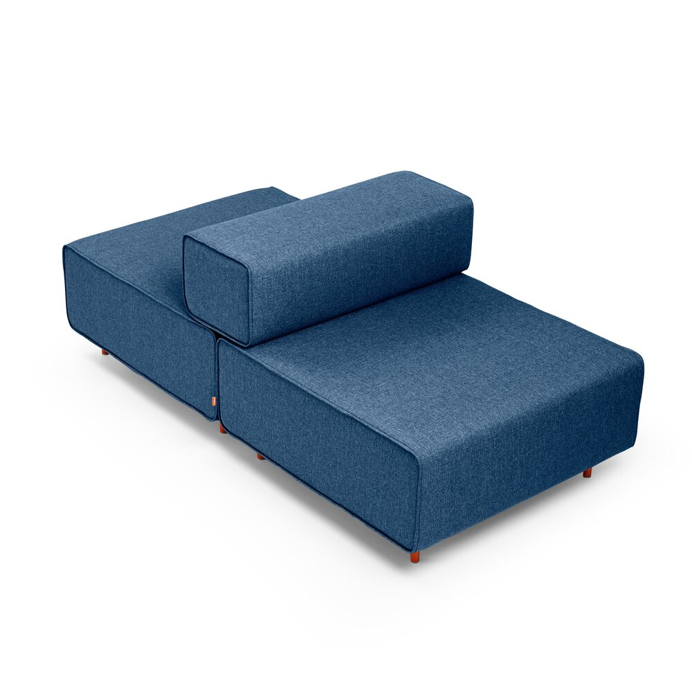 Block Party Lounge Back it Up Chair Dark Blue