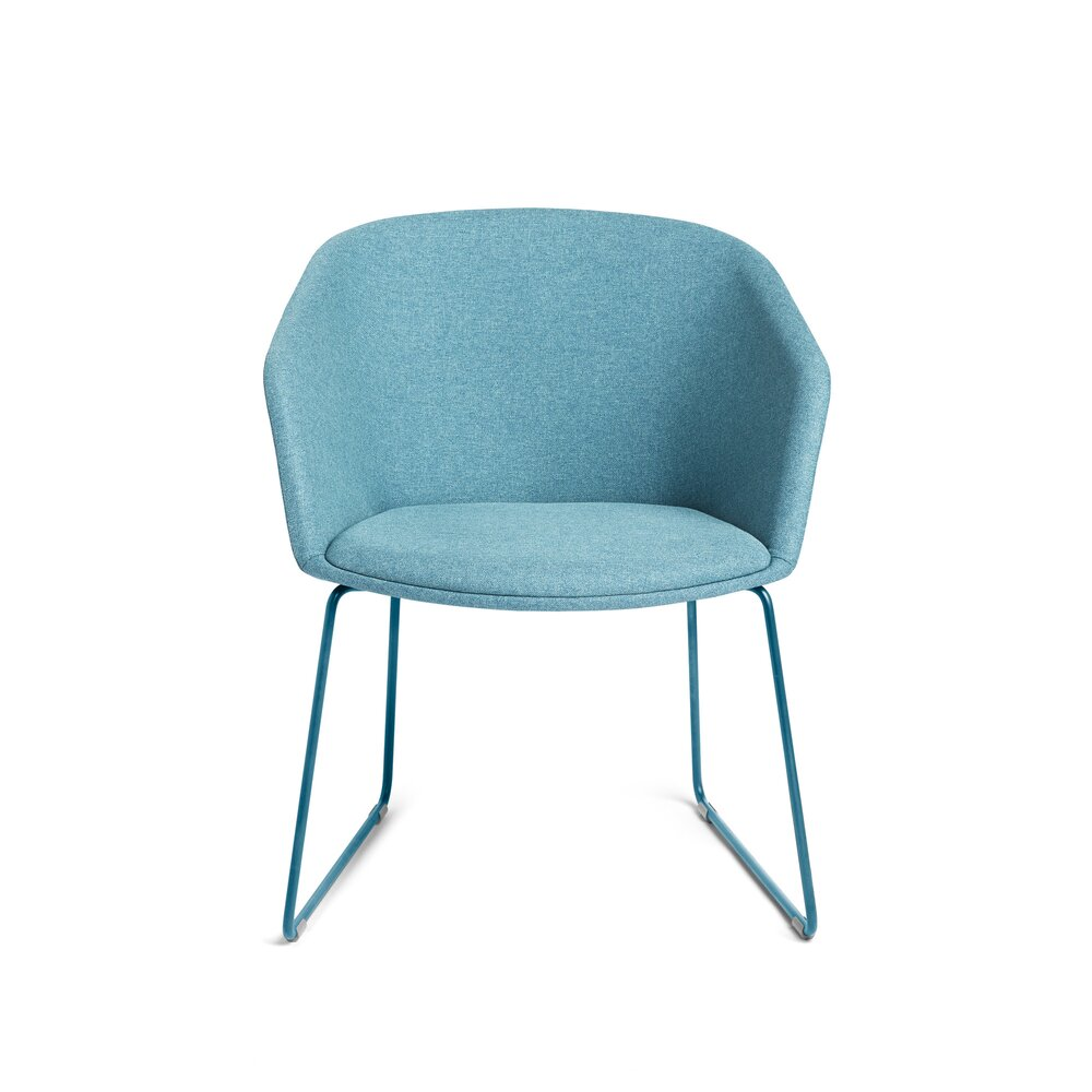 Pitch Sled Chair Blue
