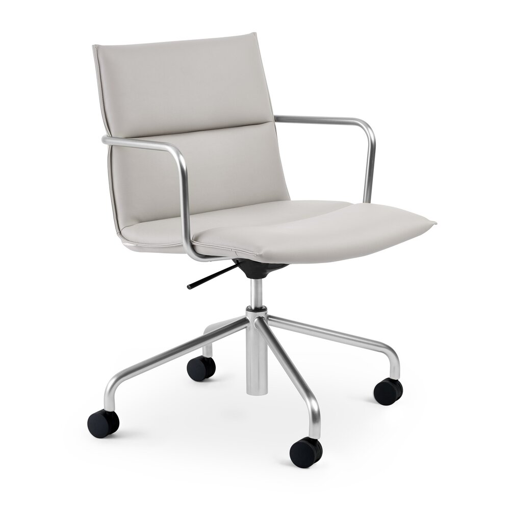 Meredith Mid Back Meeting Chair Light Gray